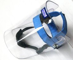 Visor with chin-strap